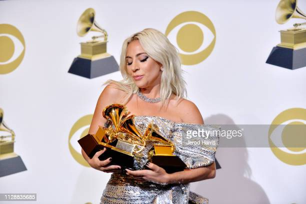 Lady Gaga attends the 61st Annual GRAMMY Awards Press Room at Staples Center on February 10 2019 in Los Angeles California