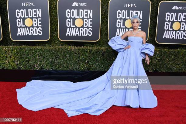 Lady Gaga attends the 76th Annual Golden Globe Awards at The Beverly Hilton Hotel on January 06, 2019 in Beverly Hills, California.