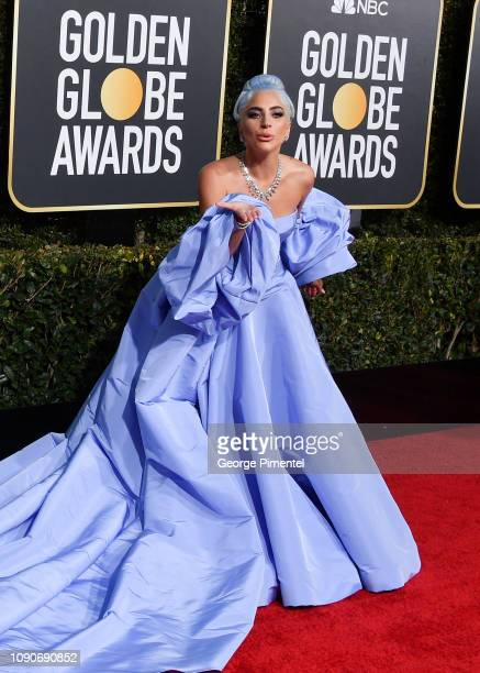 Lady Gaga attends the 76th Annual Golden Globe Awards held at The Beverly Hilton Hotel on January 06, 2019 in Beverly Hills, California.