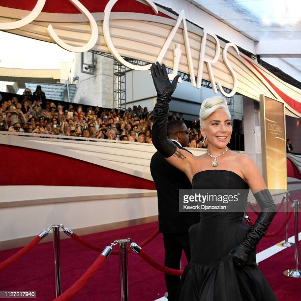 Retransmission with alternate crop Lady Gaga attends the 91st Annual Academy Awards at Hollywood and Highland on February 24 2019 in Hollywood...
