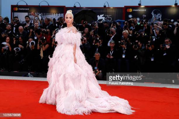 Lady Gaga attends the 'A Star Is Born' premiere during the 75th Venice Film Festival at the Palazzo del Cinema on August 31 2018 in Venice Italy