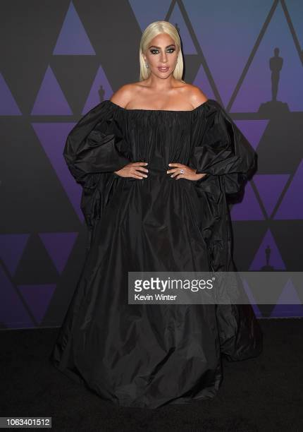 Lady Gaga attends the Academy of Motion Picture Arts and Sciences' 10th annual Governors Awards at The Ray Dolby Ballroom at Hollywood Highland...