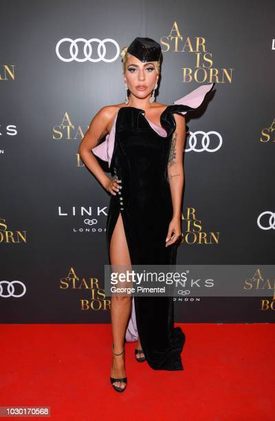 Lady Gaga attends the Audi Canada And Links Of London CoHosted PostScreening Event For 'A Star Is Born' During The Toronto International Film...