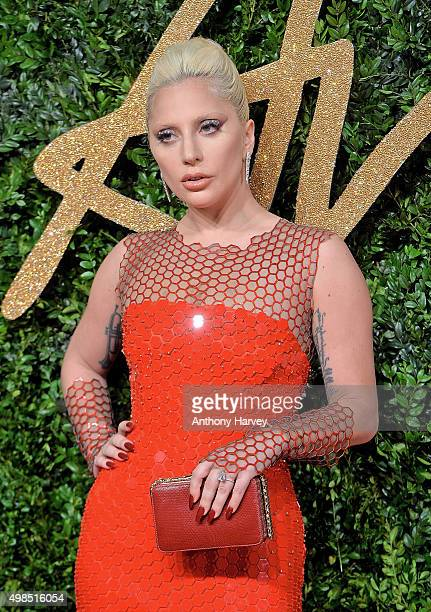 Lady Gaga attends the British Fashion Awards 2015 at London Coliseum on November 23 2015 in London England