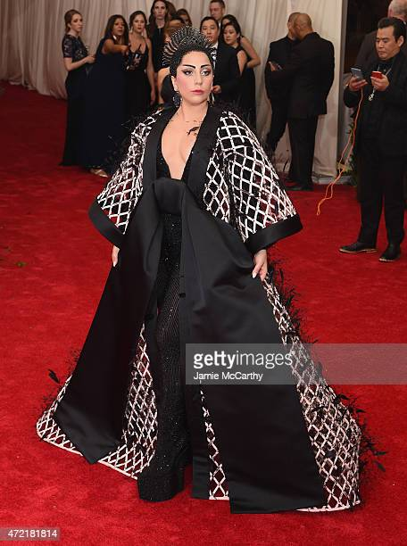 "Lady Gaga attends the ""China: Through The Looking Glass"" Costume Institute Benefit Gala at the Metropolitan Museum of Art on May 4, 2015 in New York..."