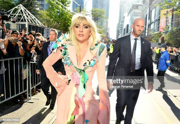 Lady Gaga attends the Gaga Five Foot Two premiere during the 2017 Toronto International Film Festival at Princess of Wales Theatre on September 8...