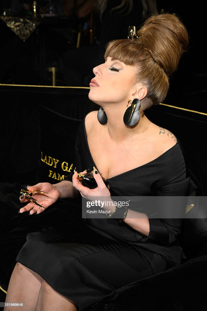 Lady Gaga attends the Lady Gaga 'Fame' eau de parfum launch at Macy's Herald Square on September 14, 2012 in New York City.