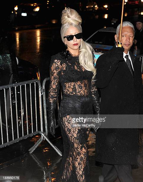 """Lady Gaga attends the """"Lady Gaga x Terry Richardson"""" book launch party at The New Museum on November 22, 2011 in New York City."""