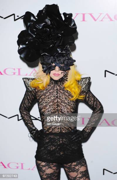 Lady GaGa attends the Mac Viva Glam Launch hosted by Sharon Osbourne at Ill Bottaccio on March 1 2010 in London England
