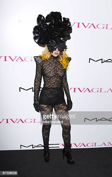 Lady Gaga attends the MAC VIVA GLAM launch photocall on March 1 2010 in London England