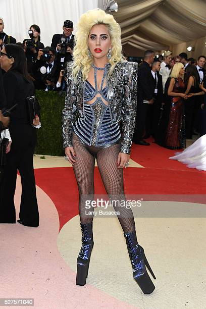 Lady Gaga attends the Manus x Machina Fashion In An Age Of Technology Costume Institute Gala at Metropolitan Museum of Art on May 2 2016 in New York...