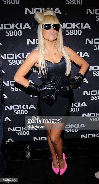 Lady GaGa attends the Nokia 5800 launch party held at Punk Soho on January 27 2009 in London England