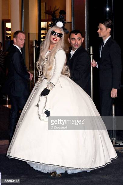 Lady Gaga attends the opening of Gaga's Workshop at Barneys New York on November 21, 2011 in New York City.