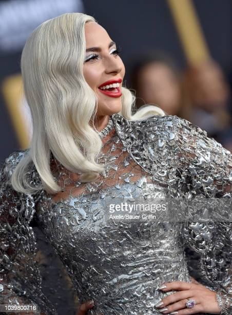 Lady Gaga attends the premiere of Warner Bros Pictures' 'A Star Is Born' at The Shrine Auditorium on September 24 2018 in Los Angeles California