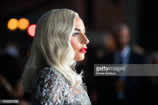 Lady Gaga attends the premiere of Warner Bros Pictures' A Star Is Born at The Shrine Auditorium on September 24 2018 in Los Angeles California