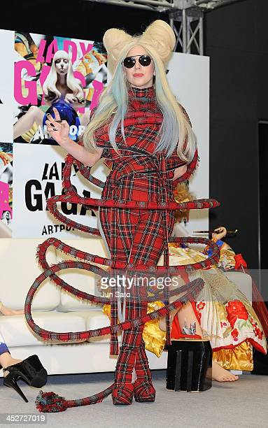 Lady Gaga attends the press conference for her new album 'Artpop' at Roppongi Academy Hills on December 1 2013 in Tokyo Japan
