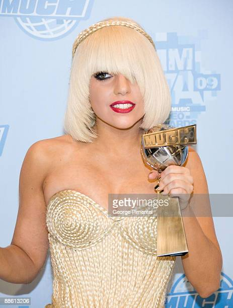Lady Gaga attends the press room at the 20th Annual MuchMusic Video Awards at the MuchMusic HQ on June 21 2009 in Toronto Canada