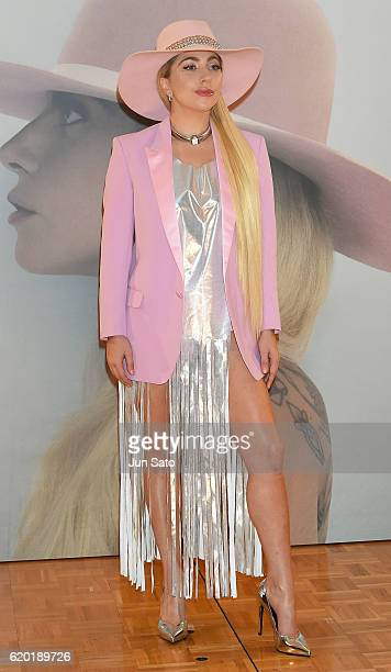 Lady Gaga attends the promotional event for her new album 'Joanne' at the The RitzCarlton Tokyo on November 2 2016 in Tokyo Japan