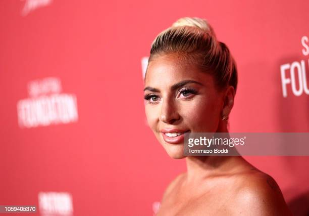 Lady Gaga attends the SAGAFTRA Foundation's 3rd Annual Patron of the Artists Awards at the Wallis Annenberg Center for the Performing Arts on...