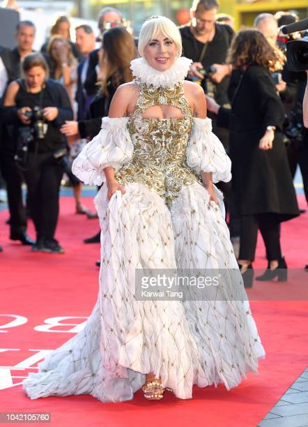 Lady Gaga attends the UK premiere of 'A Star Is Born' at the Vue West End on September 27 2018 in London England