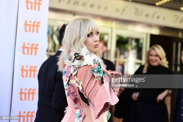 Lady Gaga attends The World Premiere of Gaga Five Foot Two during The Toronto International Film Festival at Princess of Wales Theatre on September 8...