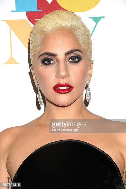 Lady Gaga attends Tony Bennett's 90th birthday party on August 3 2016 in New York City