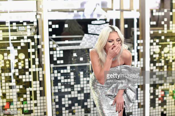 Lady Gaga backstage during the 61st Annual GRAMMY Awards at Staples Center on February 10 2019 in Los Angeles California