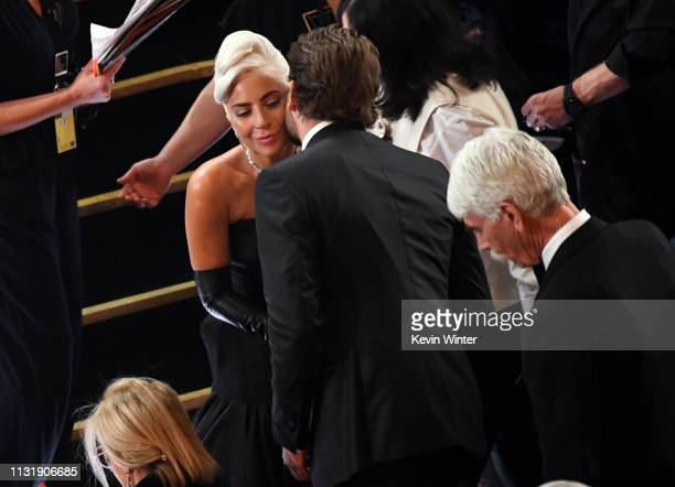 Lady Gaga Bradley Cooper and Sam Elliott attend the 91st Annual Academy Awards at Dolby Theatre on February 24 2019 in Hollywood California