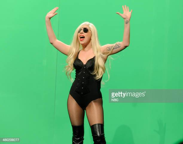 LIVE Lady Gaga Episode 1647 Pictured Lady Gaga as herself during the Worst Cover Songs of All Time