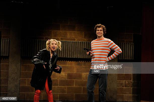 LIVE Lady Gaga Episode 1647 Pictured Lady Gaga as Lizzie Jacobson Taran Killam during Film Study Camp skit