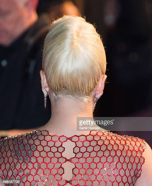 Lady Gaga hair detail attends the British Fashion Awards 2015 at London Coliseum on November 23 2015 in London England