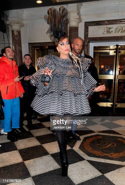 Lady Gaga heads out to Anna Wintour's pre-Met Gala dinner on May 5, 2019 in New York City.