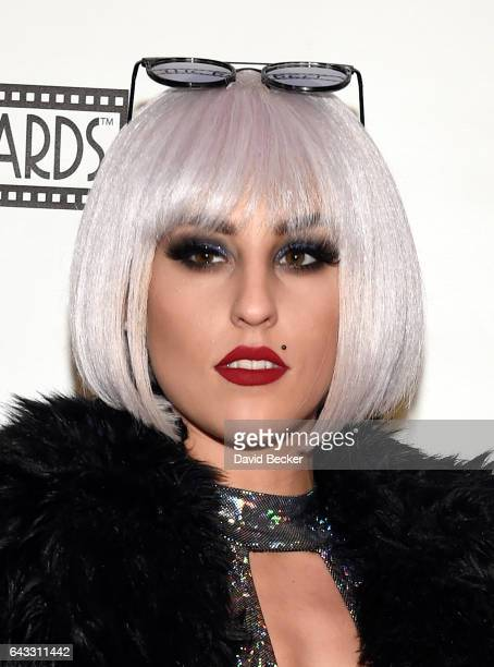 Lady Gaga impersonator Erika Winslow attends The Reel Awards 2017 at the Golden Nugget Hotel Casino on February 20 2017 in Las Vegas Nevada