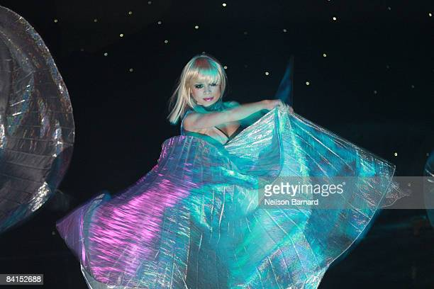 Lady Gaga impersonator performs at the New Year's Eve Ball 2009 at Webster Hall on December 31 2008 in New York City