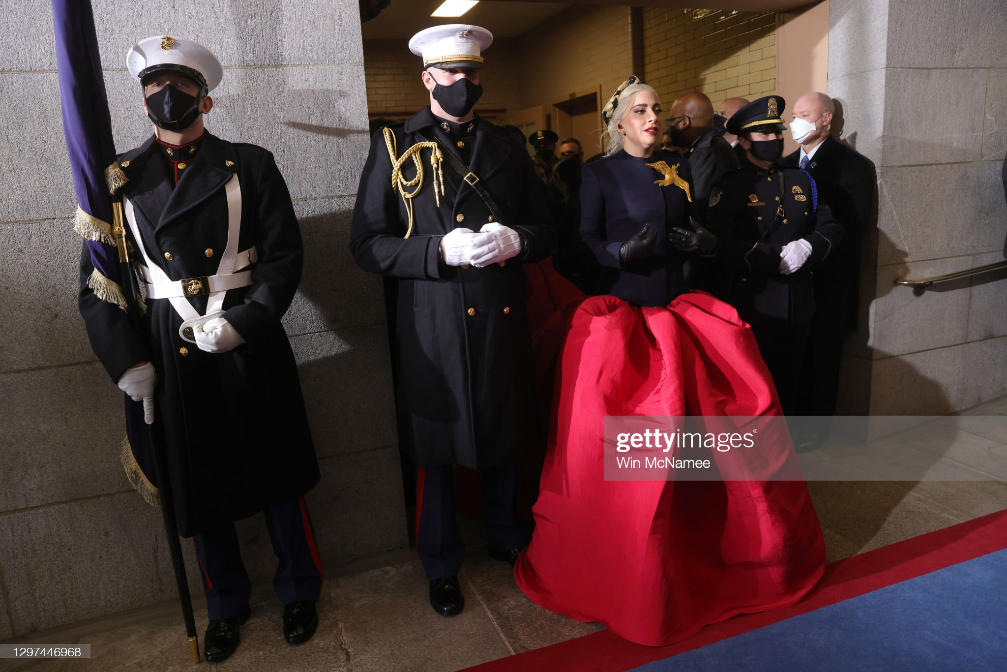lady-gaga-is-escorted-by-us-marine-escor