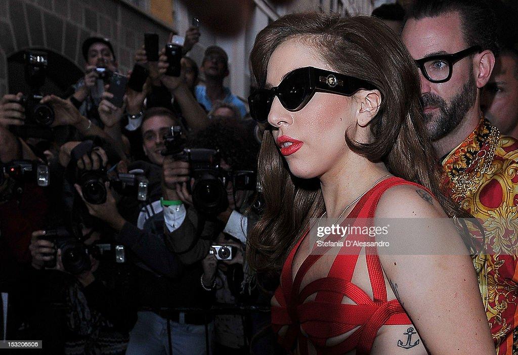 Lady Gaga Sightings In Milan - October 1, 2012 : News Photo