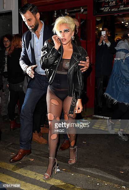 Lady Gaga is seen in Soho after her Royal Albert Hall concert with Tony Bennett is cancelled due to Bennett falling ill on June 9 2015 in London...