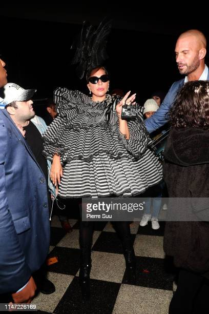 Lady Gaga is seen leaving a pre-Met Gala dinner party on May 05, 2019 in New York City.