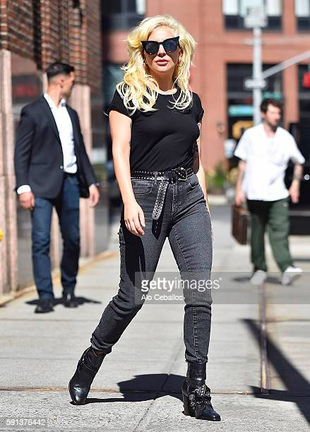 Lady Gaga is seen leaving a radio station in Tribeca on August 17 2016 in New York City