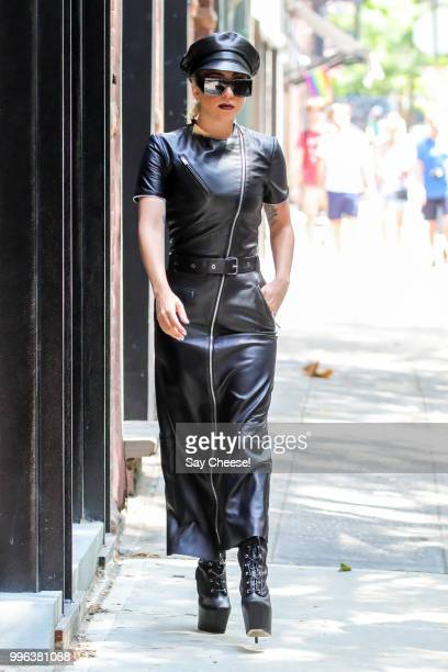 Lady Gaga is seen leaving her recording studio on July 11 2018 in New York New York