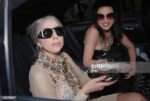 Lady Gaga is seen leaving the Park Hyatt Hotel on May 22 2010 in Paris France