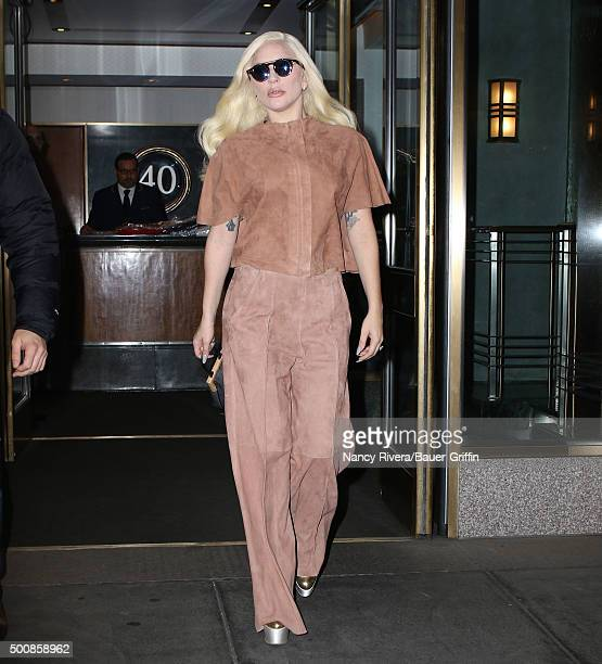 Lady Gaga is seen on December 10 2015 in New York City