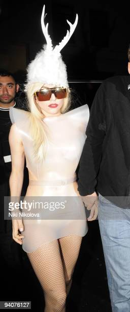 Lady GaGa is seen on December 5 2009 in London England