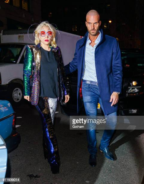 Lady Gaga is seen on January 29 2018 in New York City