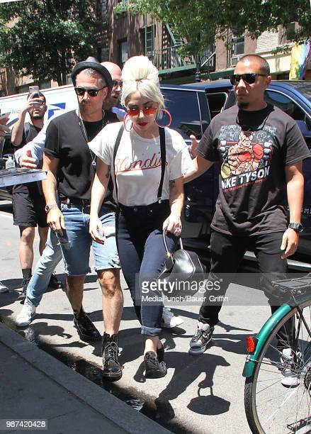Lady Gaga is seen on June 29, 2018 in New York City.
