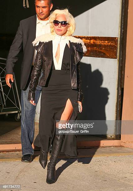 Lady Gaga is seen on October 07 2015 in New York City