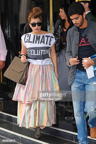 Lady Gaga is seen on September 18 2012 in London United Kingdom