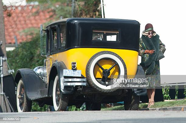 Lady Gaga is seen on the set of 'American Horror Story' on October 14 2015 in Los Angeles California