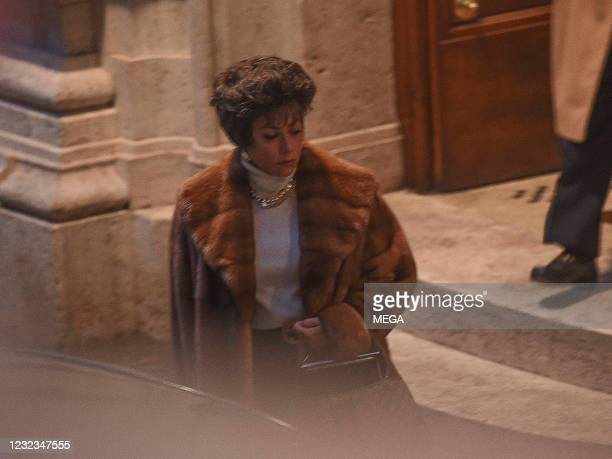 """Lady Gaga is seen on the set of """"House of Gucci"""" on April 16, 2021 in Rome, Italy."""