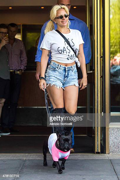 Lady Gaga is seen out and about on June 22 2015 in New York City